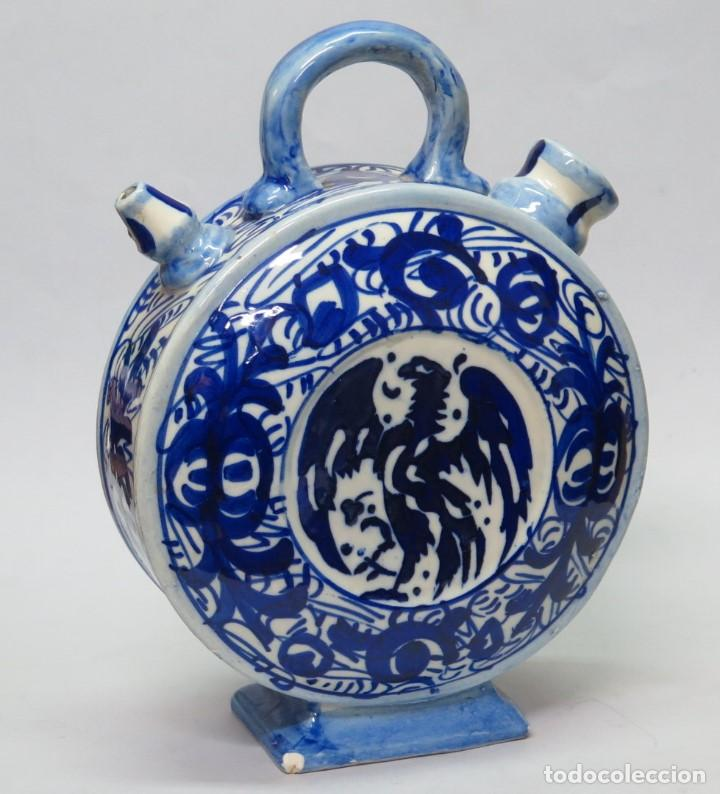 Antigüedades: BOTIJO DE CERAMICA. MANISES. FINALES SIGLO XIX-PPIOS. SIGLO XX - Foto 5 - 138987870