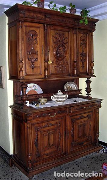 CHINERO ALACENA ANTIGUO (Antigüedades - Muebles Antiguos - Aparadores Antiguos)