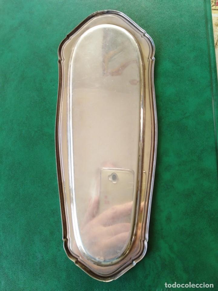 Antigüedades: Bandeja de plata con contrastes - Foto 4 - 138785190
