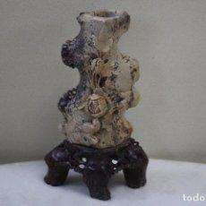Antigüedades: JARRÓN DE PIEDRA DE JABÓN. . Lote 139000106
