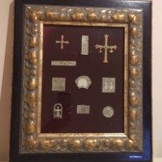 Antigüedades: CUADRO ORFEBRERIA PLATA CRUCES,ARTE ASTURIAS CARLOS ÁLVAREZ DE BENITO,HIJOS DE PEDRO ÁLVAREZ, OVIEDO. Lote 139013662