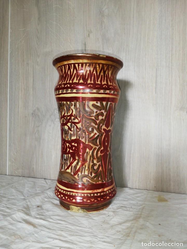ALBARELO ANTIGUO REFLEJOS METALICOS (Antigüedades - Porcelanas y Cerámicas - Manises)