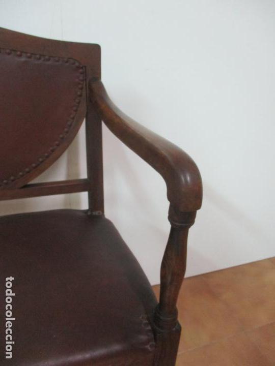 Antigüedades: Bonita Pareja de Sillones Art Decó - Sillón, Madera de Jacarandá - Años 20 - Foto 15 - 139025006