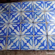 Antigüedades: PANEL AZULEJOS VALENCIANOS, SIGLO XIX, 20 X 20 CADA UNIDAD, . Lote 139028218