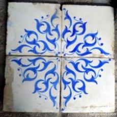 Antigüedades: PANEL AZULEJOS VALENCIANOS,SIGLO XIX , 20 X 20 CADA UNIDAD, . Lote 139028586