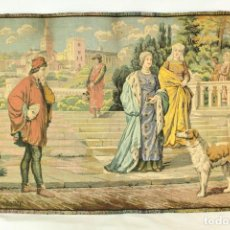 Antigüedades: PRECIOSO TAPIZ NEOCLÁSICO DE GOBELINOS FINES S XIX FRANCIA. Lote 139032938