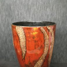 Antigüedades: ADORNO JARRÓN MADERA LACADA CON REFLEJOS MUY BONITO. Lote 139041026