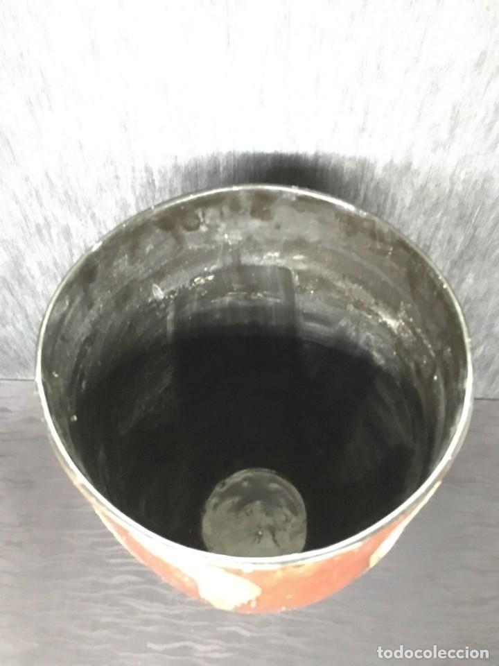 Antigüedades: adorno jarrón madera lacada con reflejos muy bonito - Foto 6 - 139041026