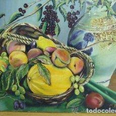 Antigüedades: PINTURA BODEGON FDO. M. BAÑOS. Lote 139043690