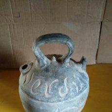Antigüedades: BOTIJO RAMON RABINAT VERDU CERAMICA NEGRA. Lote 139044253