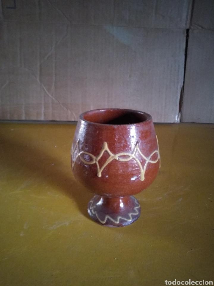 COPA BARRO DIBUJADA (Antigüedades - Porcelanas y Cerámicas - Otras)