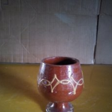 Antigüedades: COPA BARRO DIBUJADA. Lote 139047377