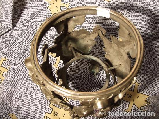 Antigüedades: CENTRO BRONCE CON AGUILA Y CRISTAL S. XIX - Foto 3 - 139047862
