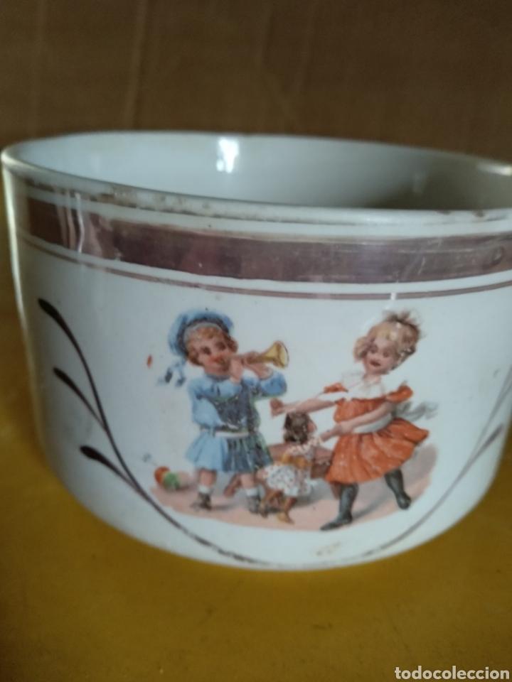 Antigüedades: Taza porcelana dibujos niños - Foto 4 - 139048193