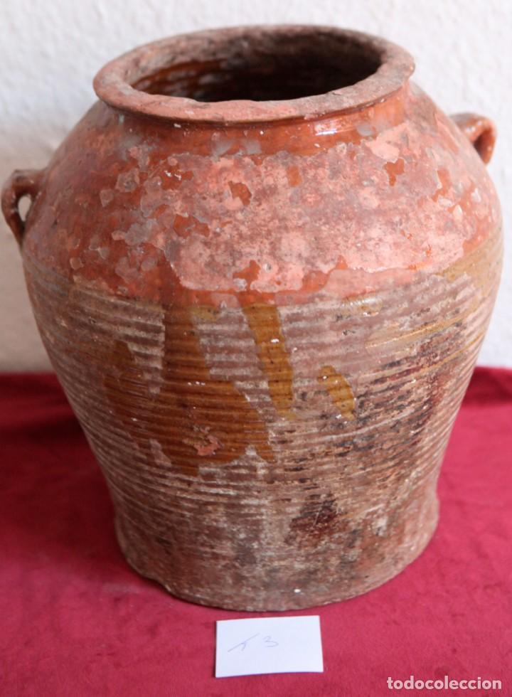 ANTIGUA TINAJA DE BARRO. (Antigüedades - Porcelanas y Cerámicas - Otras)