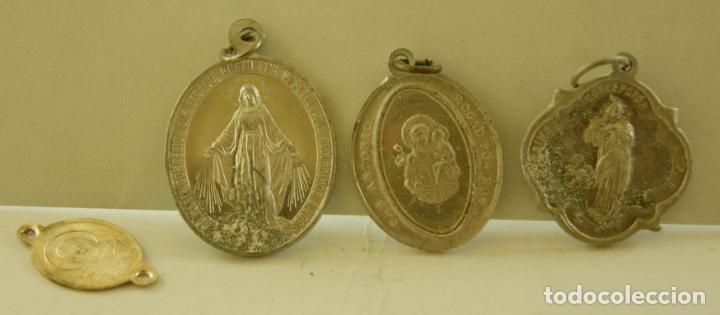 LOTE DE 3 MEDALLAS RELIGIOSAS SANTOS M3 (Antigüedades - Religiosas - Medallas Antiguas)