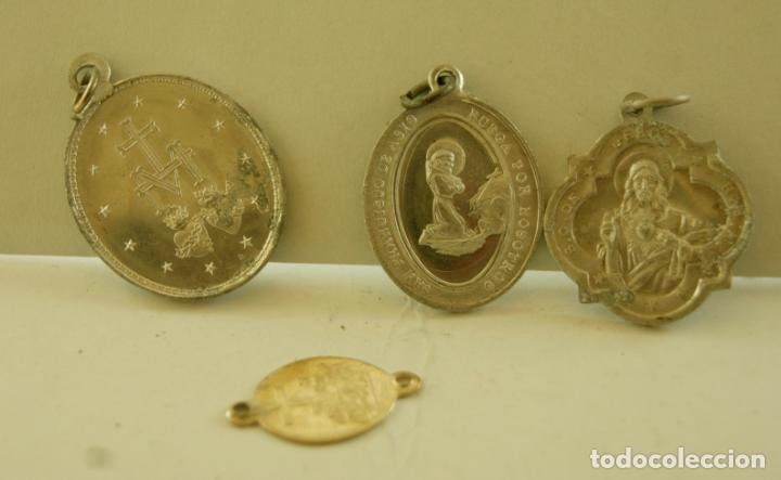 Antigüedades: LOTE DE 3 MEDALLAS RELIGIOSAS SANTOS M3 - Foto 2 - 139060946
