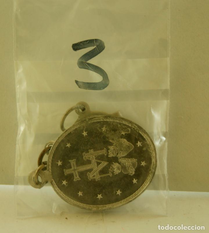 Antigüedades: LOTE DE 3 MEDALLAS RELIGIOSAS SANTOS M3 - Foto 3 - 139060946