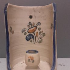 Antigüedades: ANTIGUO PORTAVELAS O CANDELABRO CERAMICA TALAVERA. Lote 139066358