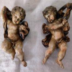 Antigüedades: PAREJA DE ANGELES. Lote 139078806