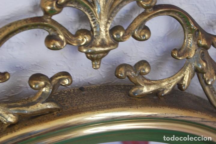Antigüedades: ESPEJO REDONDO DE LATÓN - COPETE DE BRONCE - MEDIADOS S.XX - Foto 11 - 139079890