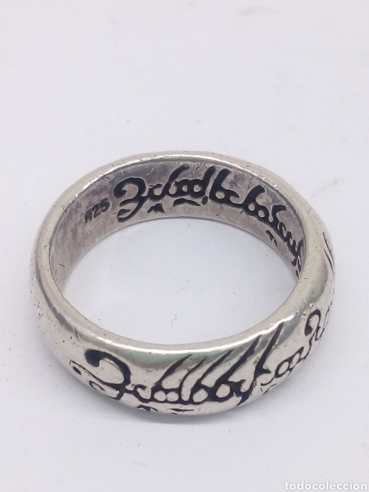 Antigüedades: Anillo Unico Señor de los anillos plata de ley 925 - Foto 2 - 195356952