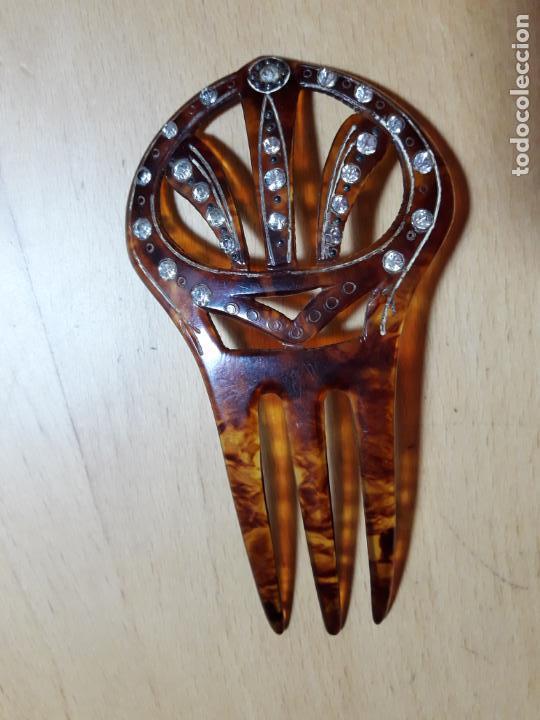 PEINETA ANTIGUA SIMIL CAREY (Antigüedades - Moda - Peinetas Antiguas)