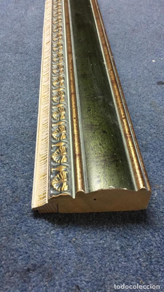 Antigüedades: EXTRAORDINARIA MOLDURA VERDE Y DORADA + COMPLEMENTO A ELEGIR. PARA 65X54. DE LUJO. - Foto 4 - 113648831