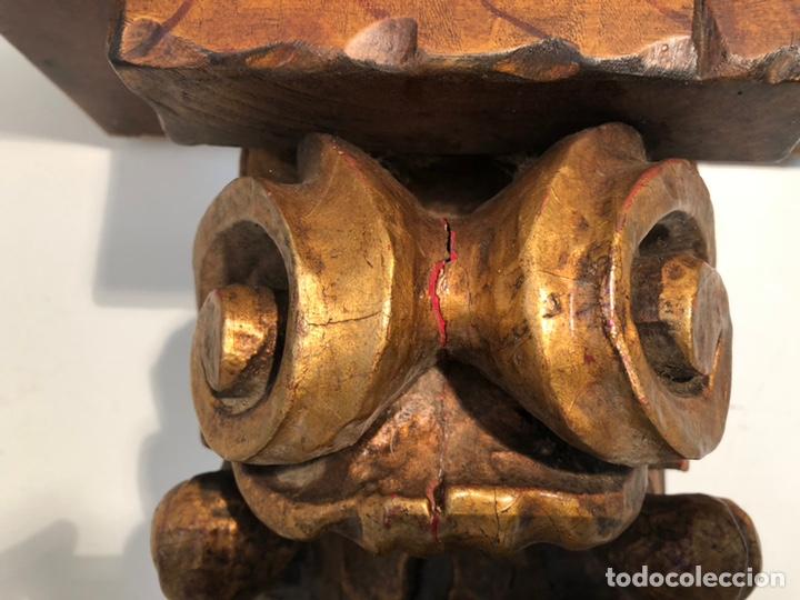 Antigüedades: PEANA DE TALLA MADERA GRANDE PARA IMAGEN RELIGIOSA.PARA RESTAURAR. - Foto 8 - 139147693