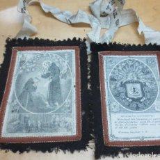 Antigüedades: ESCAPULARIO VENERABLE ORDEN TERCERA DE N.S.P. SAN FRANCISCO 15X11 CM.. Lote 139160458