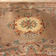 Antigüedades: GRAN ALFOMBRA CHINA DE LANA ANUDADA A MANO Y FORRADA - 2,80 X 1,90 M. Lote 139188478
