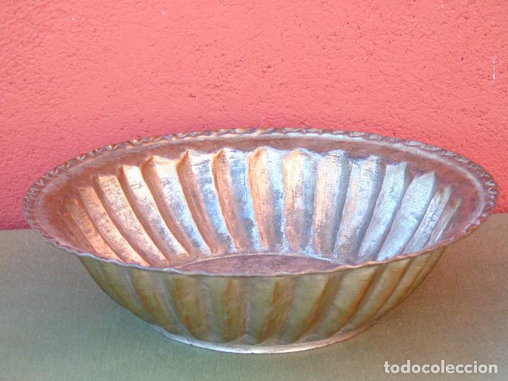 Antigüedades: FUENTE DE COBRE ANTIGUO. 28CM - Foto 2 - 139218186