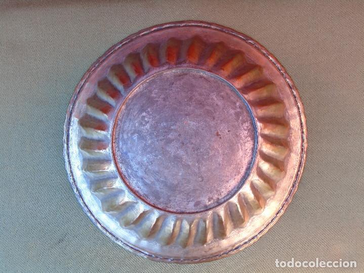 Antigüedades: FUENTE DE COBRE ANTIGUO. 28CM - Foto 6 - 139218186