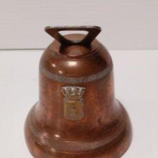 Antigüedades: CAMPANA EN COBRE MARCADA GAOR 8 CM. Lote 139227181
