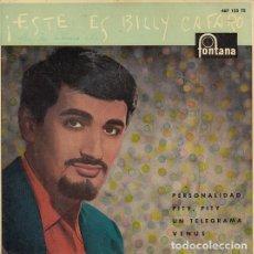 Discos de vinilo: BILLY CAFARO - PERSONALIDAD - EP DE VINILO. Lote 139230938