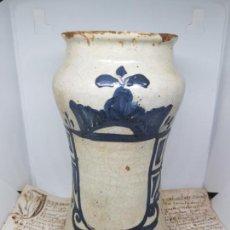Antigüedades: MAGNIFICO ALBARELO ,TARRO DE FARMACIA DE ARAGON,TERUEL,S. XVII-XVIII. Lote 139230986