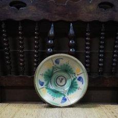 Antigüedades: ANTIGUO PLATO DE CERAMICA DE PUENTE DEL ARZOBISPO. S.XIX O PRINCIPIOS DEL XX. DIAMETRO 22CM. Lote 139231178