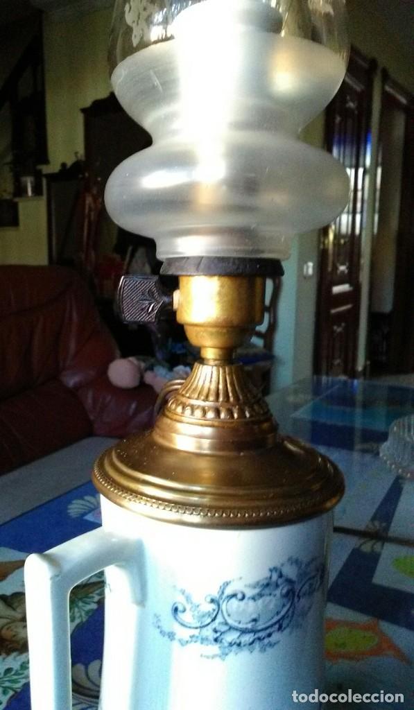 Antigüedades: Lámpara quinqué antiguo - Foto 2 - 139238706