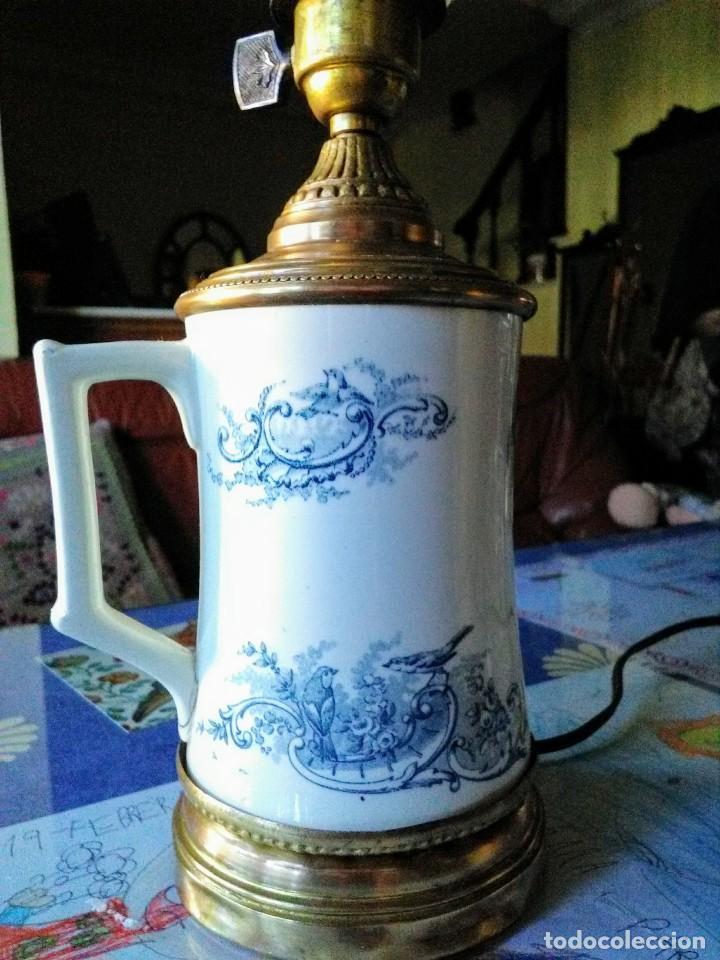 Antigüedades: Lámpara quinqué antiguo - Foto 3 - 139238706