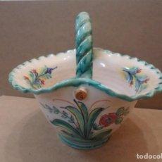 Antigüedades: CESTA DE CERÁMICA. FIRMADA. Lote 139242554