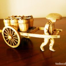 Antigüedades: AGUADOR CHINO CON CARRO Y SEIS RECIPIENTES PARA CONTENER EL AGUA . Lote 139244322