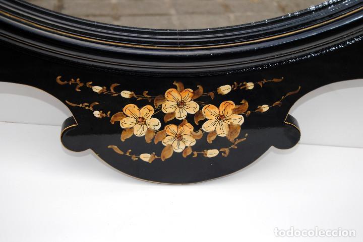 Antigüedades: Antiguo espejo estilo oriental - Foto 3 - 184758140