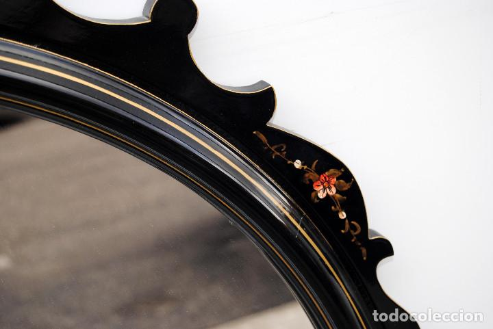 Antigüedades: Antiguo espejo estilo oriental - Foto 4 - 184758140