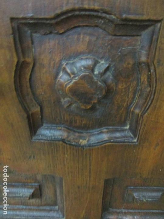Antigüedades: Antiguo Armario Rústico - Alacena - Mueble Español - Madera de Roble - S. XVII - Foto 12 - 139262390