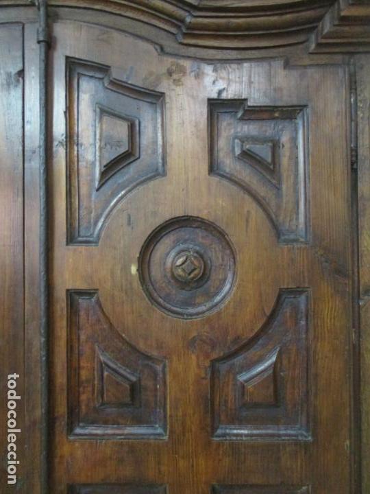 Antigüedades: Antiguo Armario Rústico - Alacena - Mueble Español - Madera de Roble - S. XVII - Foto 13 - 139262390