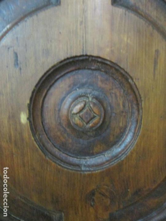 Antigüedades: Antiguo Armario Rústico - Alacena - Mueble Español - Madera de Roble - S. XVII - Foto 14 - 139262390