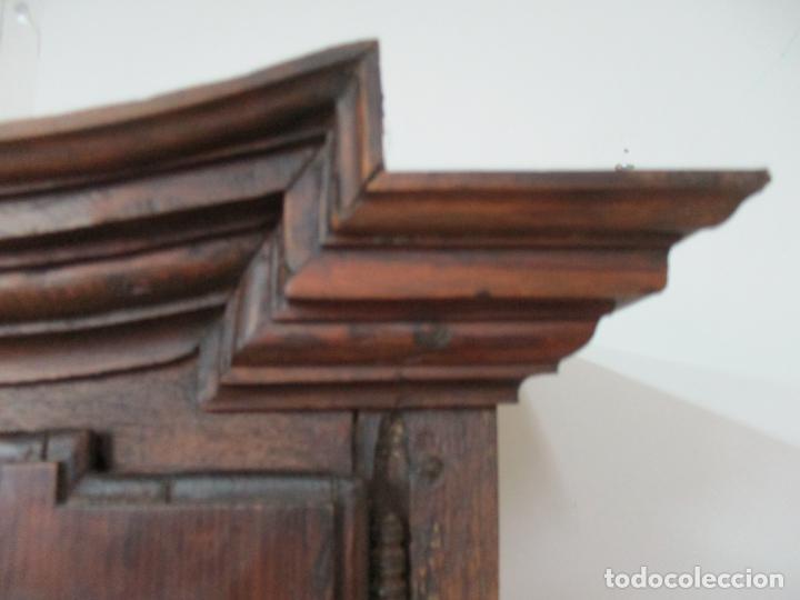 Antigüedades: Antiguo Armario Rústico - Alacena - Mueble Español - Madera de Roble - S. XVII - Foto 18 - 139262390