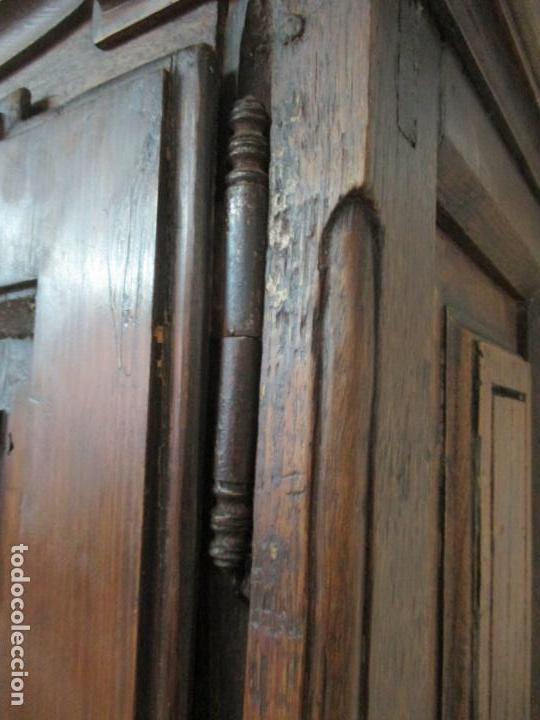 Antigüedades: Antiguo Armario Rústico - Alacena - Mueble Español - Madera de Roble - S. XVII - Foto 20 - 139262390