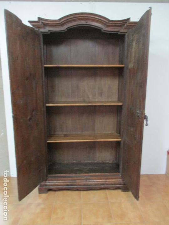 Antigüedades: Antiguo Armario Rústico - Alacena - Mueble Español - Madera de Roble - S. XVII - Foto 21 - 139262390