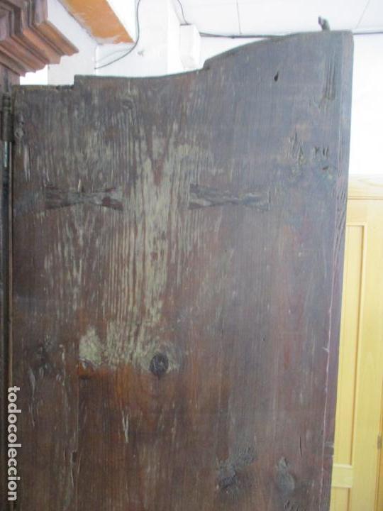 Antigüedades: Antiguo Armario Rústico - Alacena - Mueble Español - Madera de Roble - S. XVII - Foto 25 - 139262390